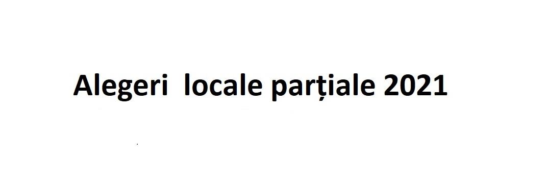 Alegeri locale partiale 2021